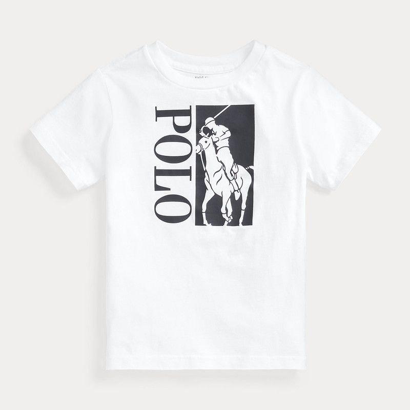 ビッグポニーロゴ・コットン・半袖Tシャツ[2色展開] (男の子2〜7歳用)