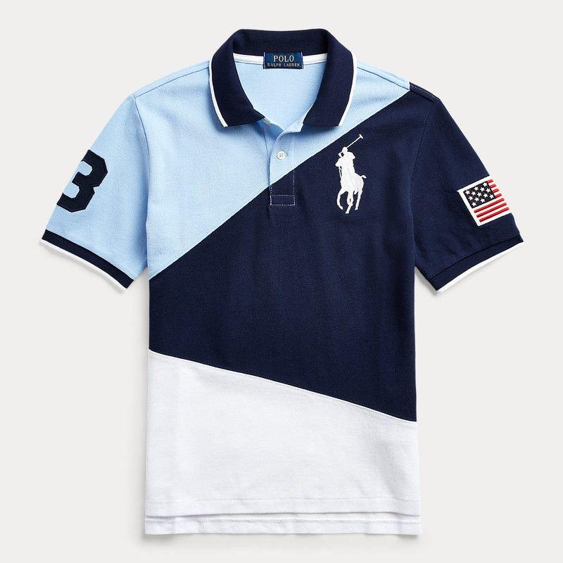 ビッグポニー・コットン・半袖ポロシャツ[ネイビー] (ボーイズS〜XL)