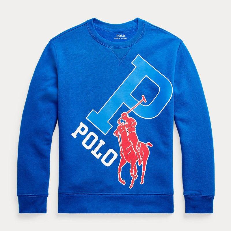 ビッグポニー・フリース・スウェットシャツ[ブルー]  (ボーイズS〜XL)