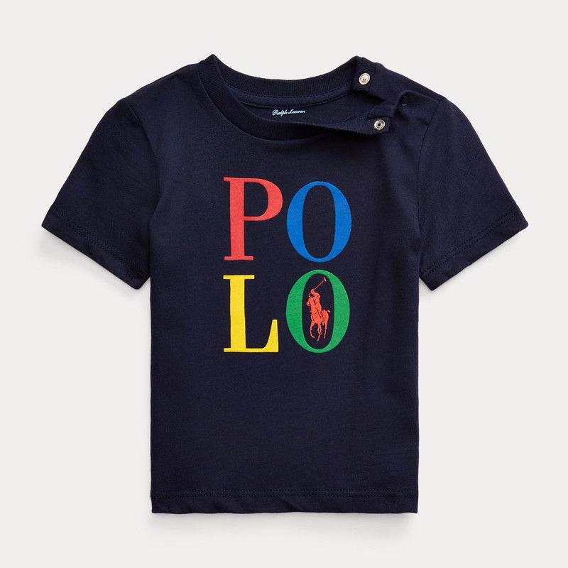 <img class='new_mark_img1' src='https://img.shop-pro.jp/img/new/icons15.gif' style='border:none;display:inline;margin:0px;padding:0px;width:auto;' />POLO・コットン・半袖Tシャツ[ネイビー]   (男の子12〜24か月用)