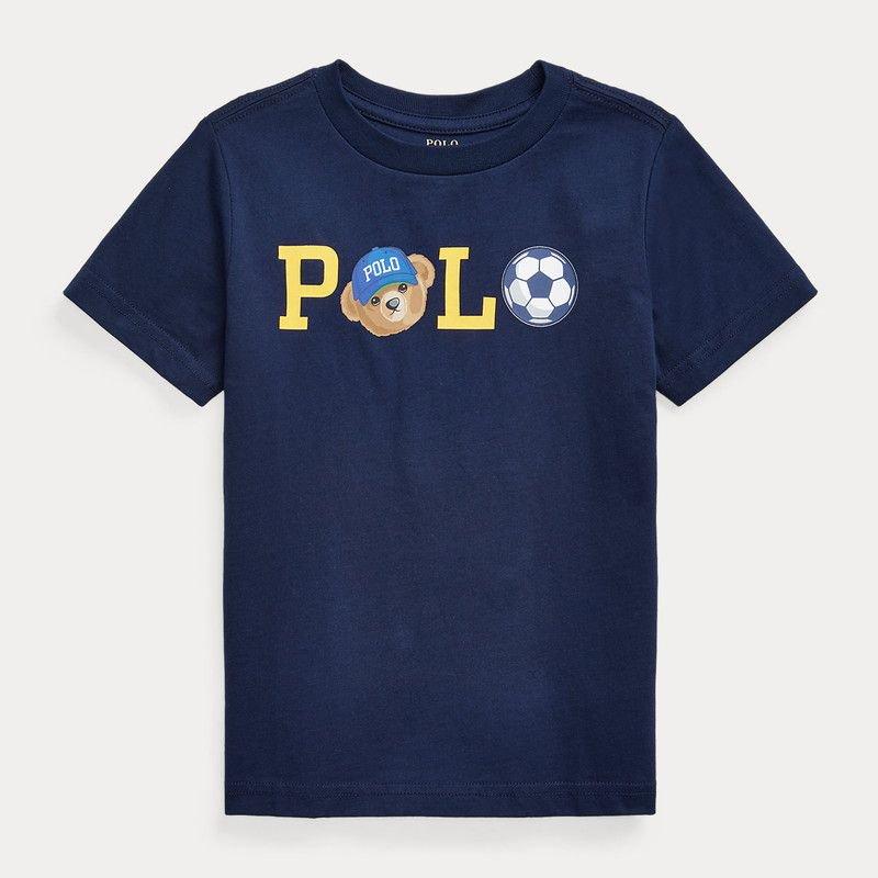 <img class='new_mark_img1' src='https://img.shop-pro.jp/img/new/icons15.gif' style='border:none;display:inline;margin:0px;padding:0px;width:auto;' />POLOベア・コットン・半袖Tシャツ[ネイビー] (男の子2〜7歳用)