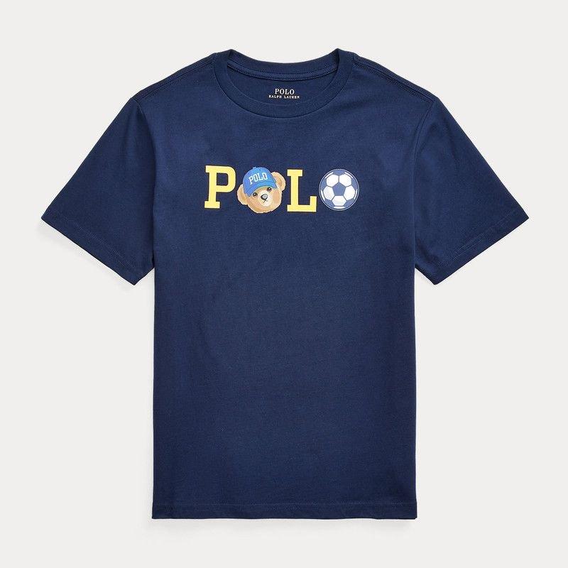 <img class='new_mark_img1' src='https://img.shop-pro.jp/img/new/icons15.gif' style='border:none;display:inline;margin:0px;padding:0px;width:auto;' />POLOベア・コットン・半袖Tシャツ[ネイビー]  (ボーイズS〜XL)