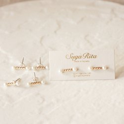 Mini Bar Pearl Earrings