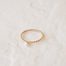 Baby Pearl Twist Ring