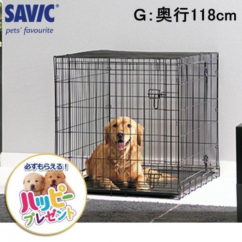 ペットケージ 折りたたみ 2ドア SAVIC ドッグコテージ G 118cm