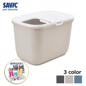 猫トイレ ネコ トイレ  おしゃれ 本体 ペット用品 サヴィッチ ベルギー ヨーロッパ EU ( SAVIC ホップイン ホワイト/モカ)