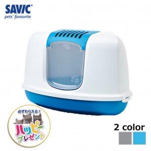 猫トイレ ネコ トイレ  おしゃれ 本体 ペット用品 サヴィッチ ベルギー ヨーロッパ EU ( SAVIC ネスターコーナー ホワイト/ターコイズブルー)