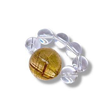 【ルチル水晶】 ルチルクォーツは、財運アップに最適なパワーストーンです。
