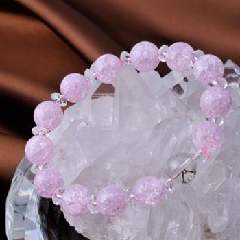 【クラック水晶】 ビリちゃんとクラック水晶のブレスレット
