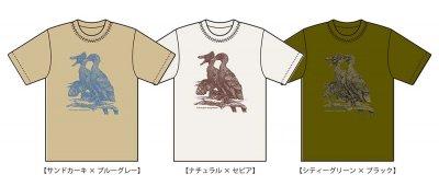 小田隆 ヴェロキラプトル(部分)Tシャツ