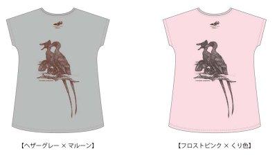 小田隆 ヴェロキラプトル(全身)ロングTシャツ フリーサイズ