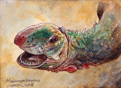 (7/52ほねばたけ へたか)マジュンガサウルス ポストカード
