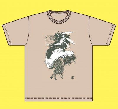 02-02 久正人 Tシャツ ティラノサウルス