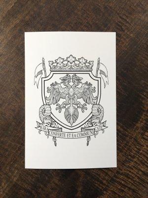 04-18 神保町ヴンダーカンマー公式 紋章ポストカード
