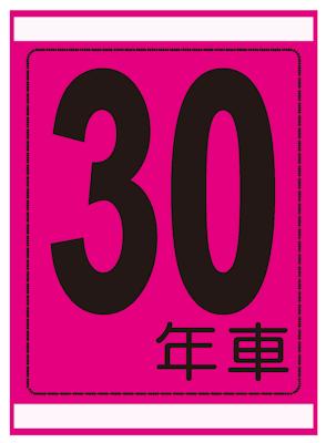 年式カード(30年車)