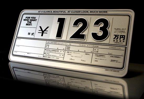 インポートプライスボード シルバー(ボード5枚+数字20枚お買い得セット)