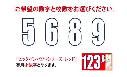 ビッグインパクトプライスボード  レッド用小数字