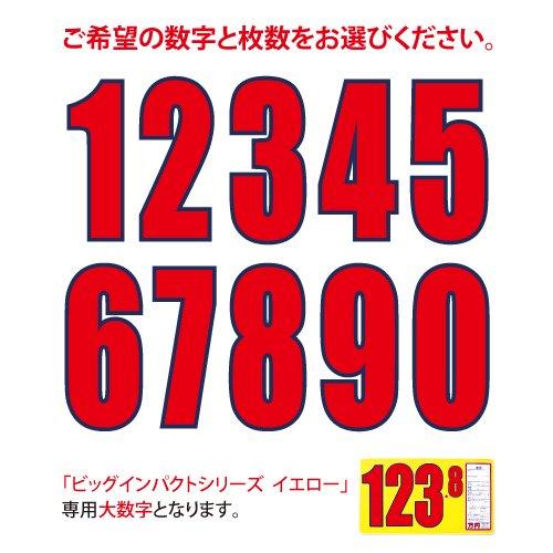 ビッグインパクトプライスボード  イエロー用大数字