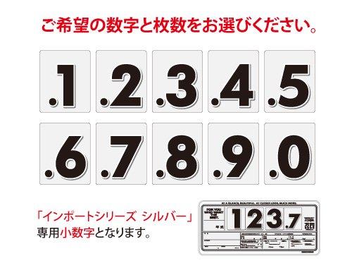 インポートプライスボード シルバー用小数字