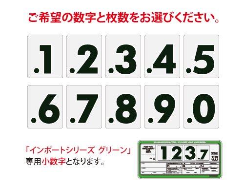 インポートプライスボード グリーン用小数字