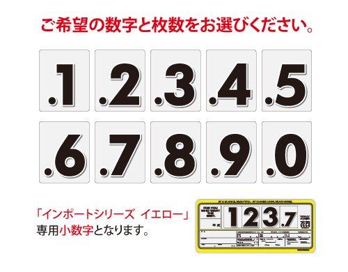 インポートプライスボード イエロー用小数字