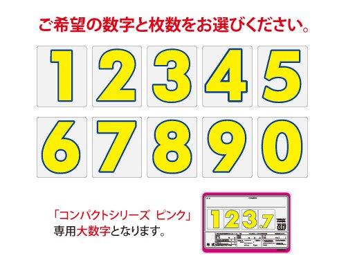 コンパクトプライスボード ピンク用大数字
