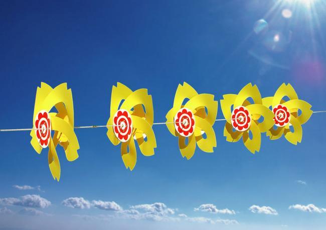 ブラッサムイエロー風車