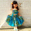 <img class='new_mark_img1' src='//img.shop-pro.jp/img/new/icons51.gif' style='border:none;display:inline;margin:0px;padding:0px;width:auto;' />子供服フラダンス・キッズパウスカート【ティアレモンステラ】ターコイズ