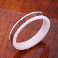 【ハワイアンジュエリー】コアウッドリング/4mm Flat Hight Tech White Ceramic Koa Wood Wedding Ring