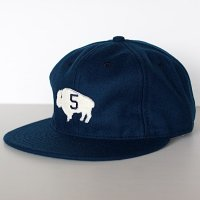 GOWEST × EBBETS FIELD  6PANEL BASEBALL CAP (NAVY)