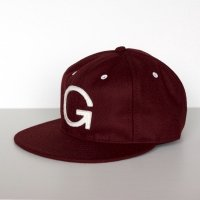 GOWEST × EBBETS FIELD  6PANEL BASEBALL CAP (WINE)