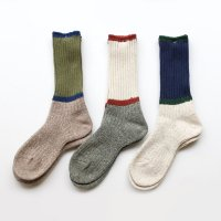 GOHEMP × ANONYMOUSISM   Bi Color Crew Socks (M)