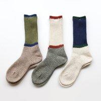 GOHEMP × ANONYMOUSISM   Bi Color Crew Socks (M)