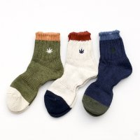 GOHEMP × ANONYMOUSISM   EMB Slub Quarter Socks (L)
