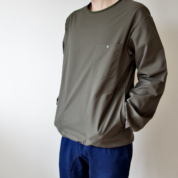 BURLAP OUTFITTER   LS Crew Neck  Pocket Tee