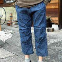 <img class='new_mark_img1' src='https://img.shop-pro.jp/img/new/icons47.gif' style='border:none;display:inline;margin:0px;padding:0px;width:auto;' />WILDTHINGS × KATO  3/4 DENIM CLIMBING PANT  (INDIGO)