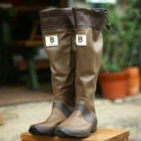 バードウォッチング長靴  (ブラウン)