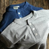 A HOPE HEMP  Henley Neck S/S Tee