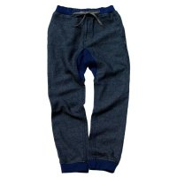 GOHEMP  SLIM RIB PANTS  (INDIGO TWEED DENIM)