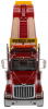 【ダイキャストマスター】 1/50 インターナショナル HX520 タンデム トラクター XL 120 トレーラー レッド  (リアブースター付き) [DM71016]