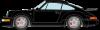 【ヴィジョン】 1/43 ポルシェ 911(964) ターボ 3.6 1993 ブラック (レッドインテリア)[VM158C]