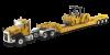 【ダイキャストマスター】 1/50 Cat CT660デイキャブトラクター&XL120 ロープロファイルHDG トレーラー&Cat CB-534D XWバイブレータアスファルト [DM85601C]