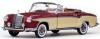 【サンスター】 1/18 メルセデス・ベンツ 220 SE オープン  コンバーチブル  1958  レッド/クリーム [3556]