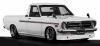 【イグニッションモデル】 1/18 日産 サニートラック Long (B121) White ※Hayashi-Wheel  ★生産予定数:100pcs [IG1438]