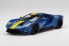 【トップスピード】  1/18 フォード GT スノコブルー/イエローストライプ [TS0305]