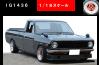 【イグニッションモデル】 1/18 日産 サニートラック Long (B121) GunMetallic  ※AD-Wheel ★生産予定数:120pcs [IG1436]
