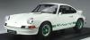 【ミニチャンプス】 1/8 ポルシェ 911 カレラ RS 2.7 ライトウェイト                 ホワイト /グリーンロゴライン 限定99台 [800653007]