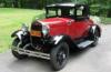 【サンスター】 1/18 フォード モデル A クーペ 1931オーロラレッド/ アンダルサイトブルー [6137]