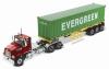 【ダイキャストマスター】 1/50 ウエスタンスター 4700 SB タンデムメタリックレッド 40' Dry good Sea Container