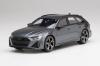 【トップスピード】  1/18 アウディ RS 6 アバント カーボンブラック  デイトナグレー [TS0316]